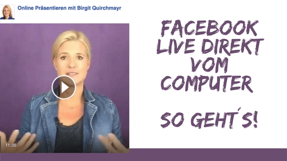 Facebook Live Video direkt vom Computer – So geht´s!