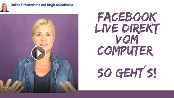 Facebook Live direkt vom Computer
