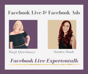 Facebook Live Interview mit Sandra Staub Facebook Ads Expertin & Facebook für Frauen Gründerin