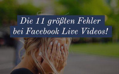 Diese Fehler solltest du bei Live Videos vermeiden!