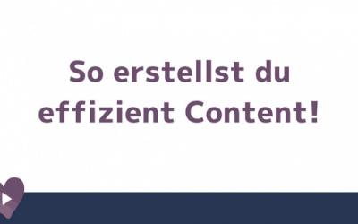 Content erstellen leicht gemacht!