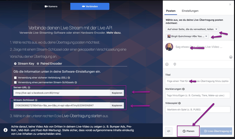 Facebook Live Video mit Zoom Meeting