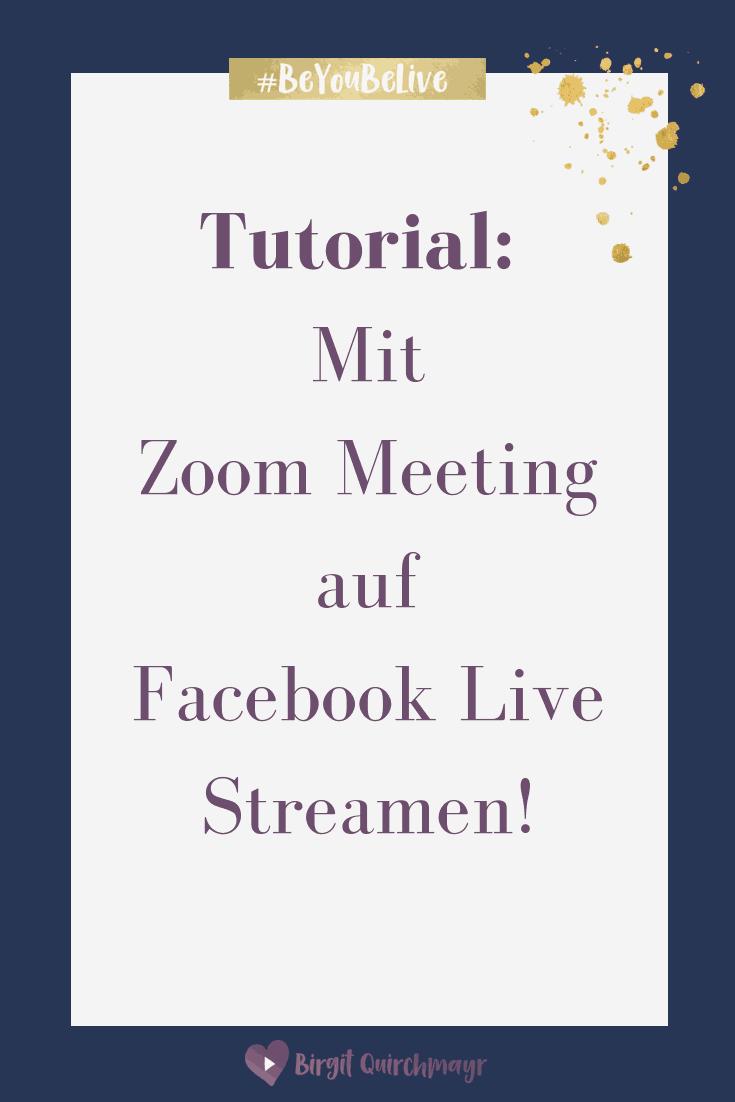 Mit Zoom Meeting auf Facebook Live Streamen! So geht´s!