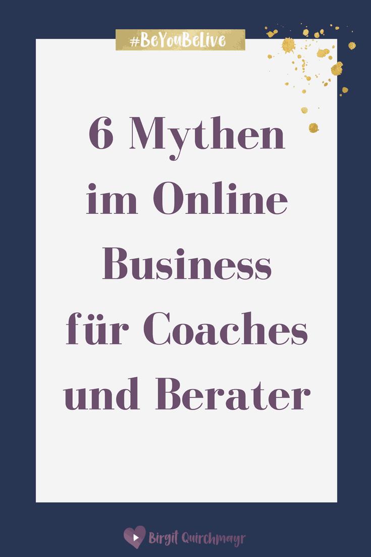 Mythen im Online Business für Coaches und Berater_Pinterest