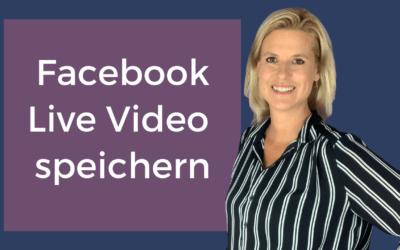 Facebook Live Video von deiner Facebook Seite downloaden und auf dem Computer speichern