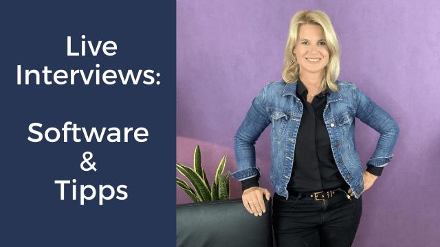 Live Interviews durchführen: Software & Tipps
