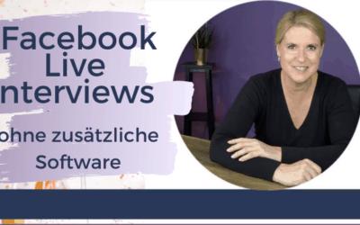 Facebook Live Interviews ohne zusätzliche Software (Facebook Live Producer!)