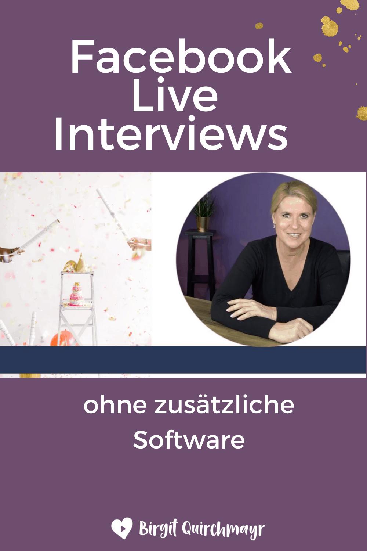 Facebook Live Interviews ohne zusätzliche Software